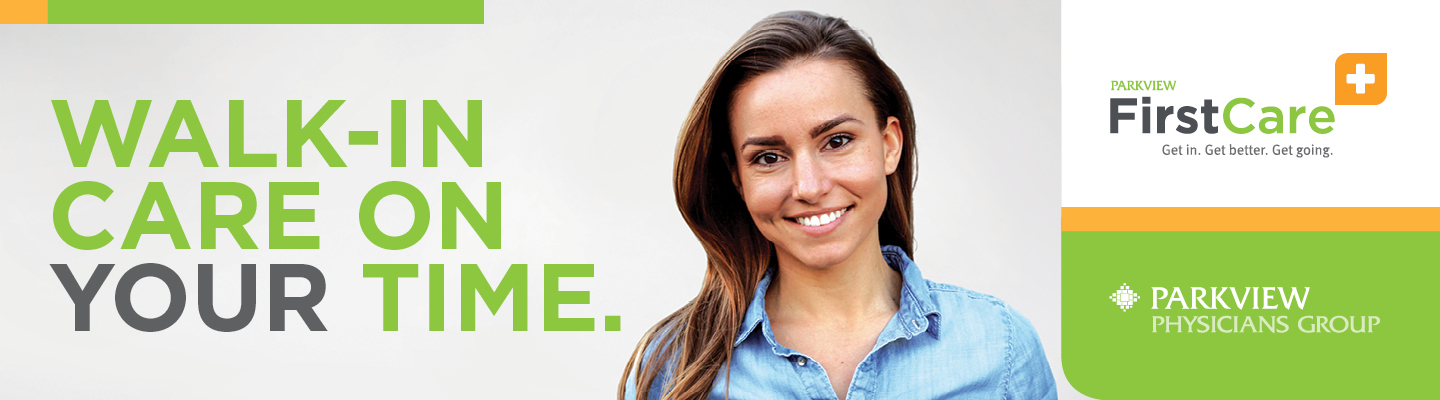 banner image FirstCare - Walk in Clinic | Parkview Health | NE Indiana and NW Ohio