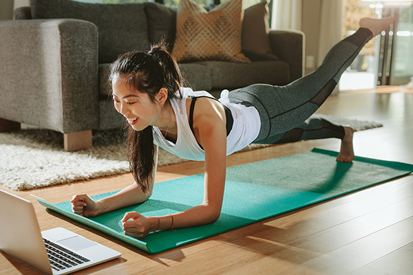 Getting creative with home workouts