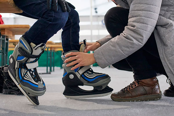 Ice skates and foot protection