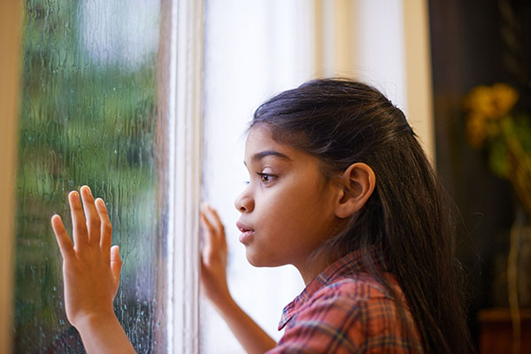 When springtime showers make children cower