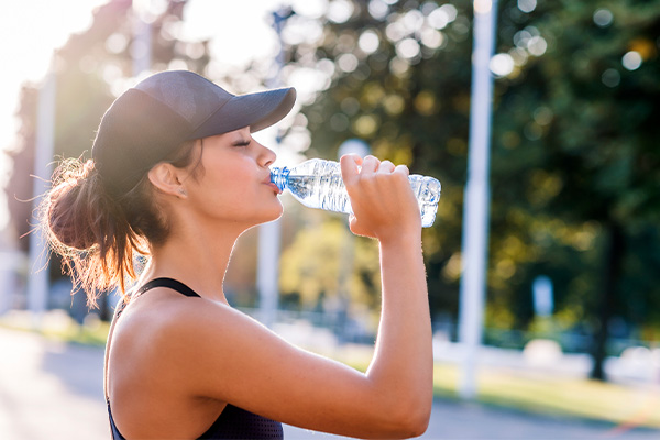 Preventing heat stroke and cramps while exercising