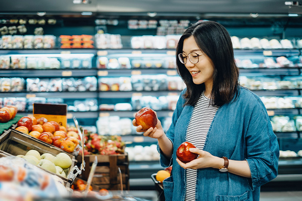 Healthy grocery shopping for weight loss