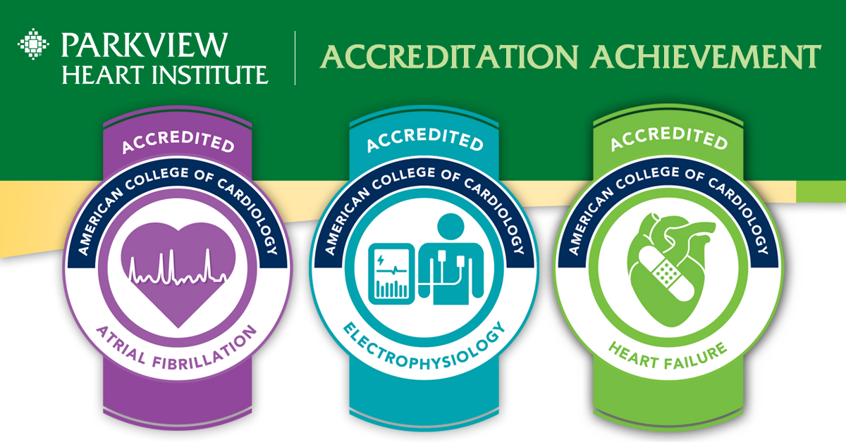 Parkview Heart Institute Accreditations