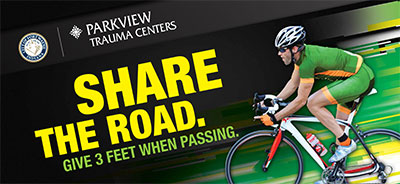 Share the road graphic with bike