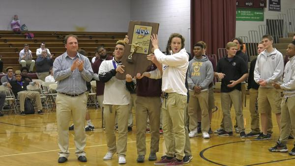 Concordia welcomes home state champion football team