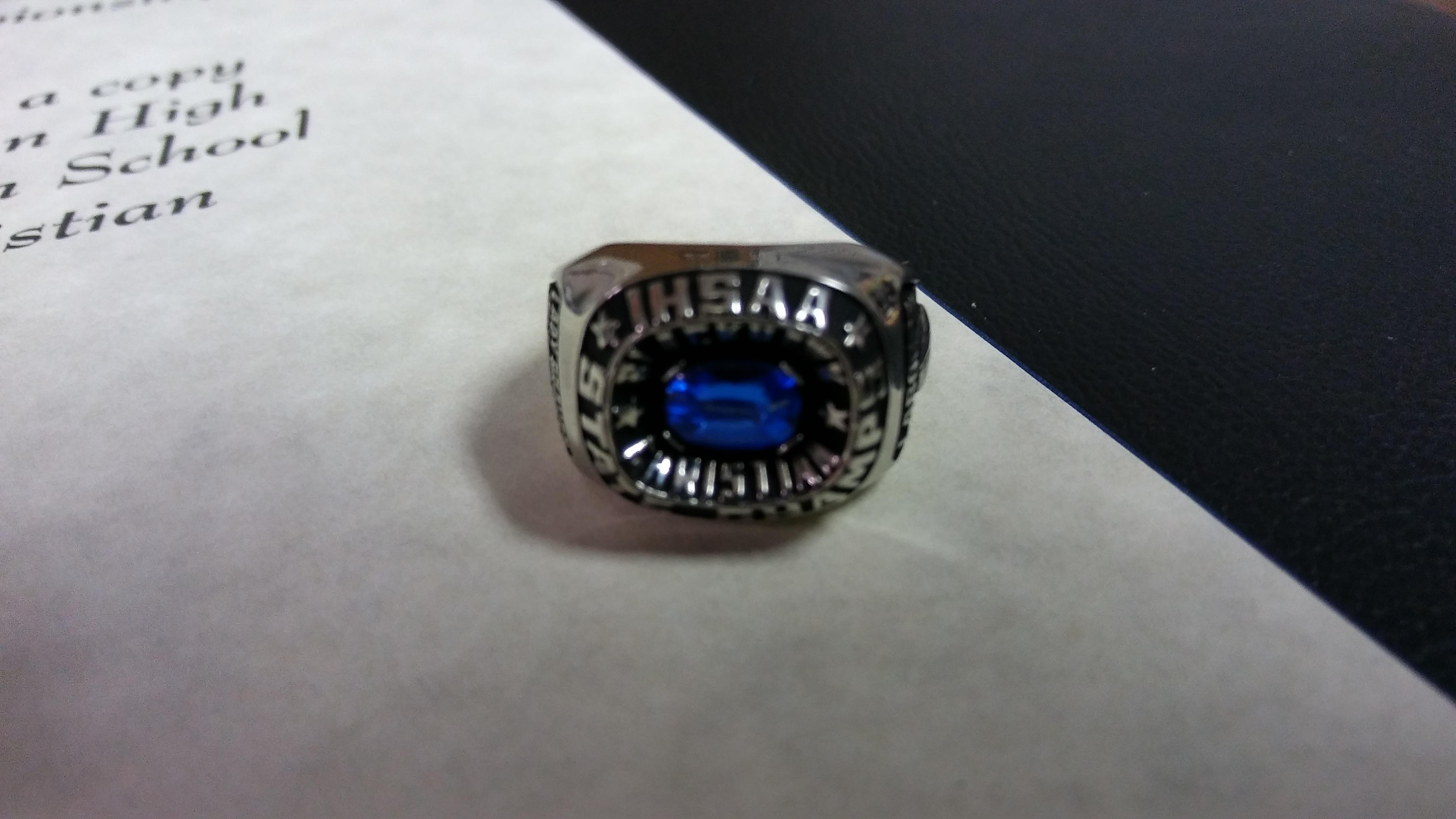 Blackhawk Christian volleyball receives state championship rings