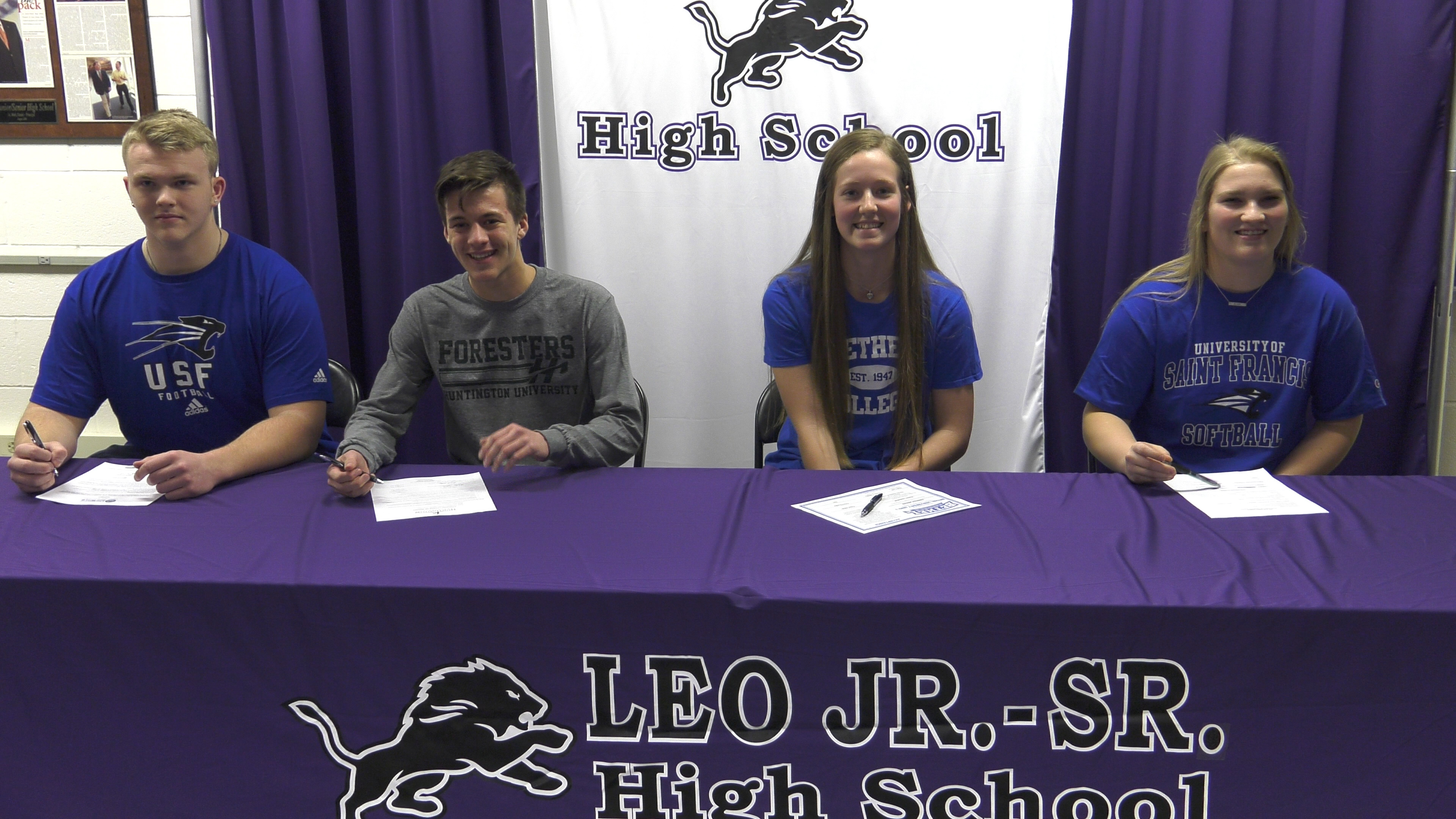 Four Leo Lions make college choices official