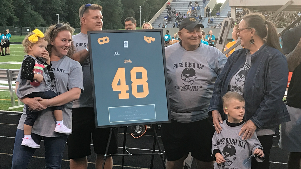Longtime Snider assistant Russ Bush recognized for 48 years of coaching with Panthers