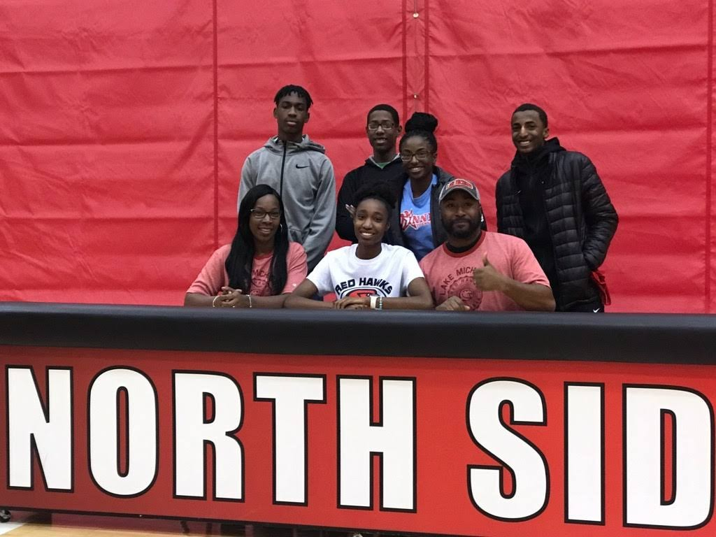 North Side's Mykaille Williams signs with Lake Michigan College volleyball