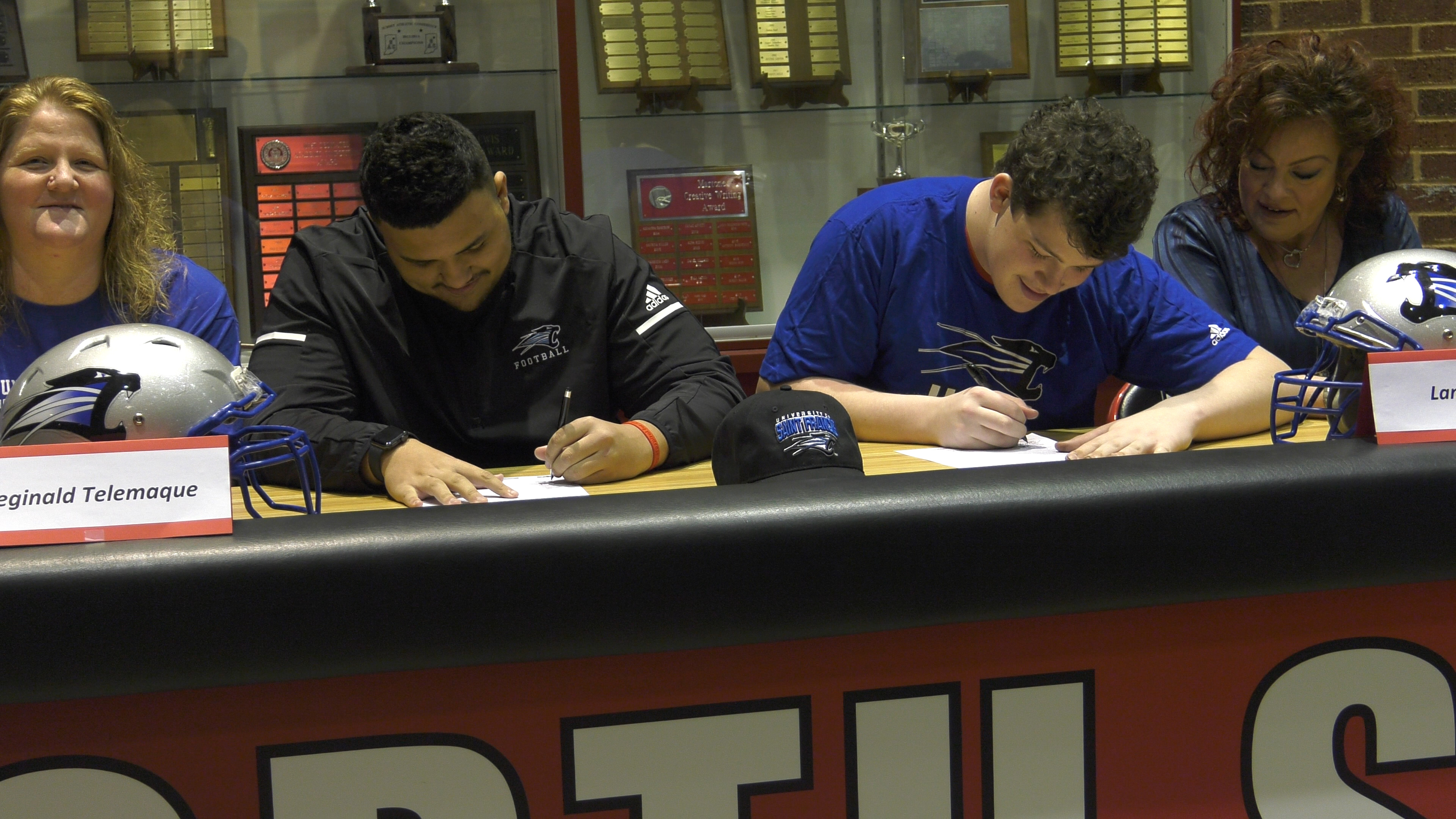 North Side teammates sign to play football at USF