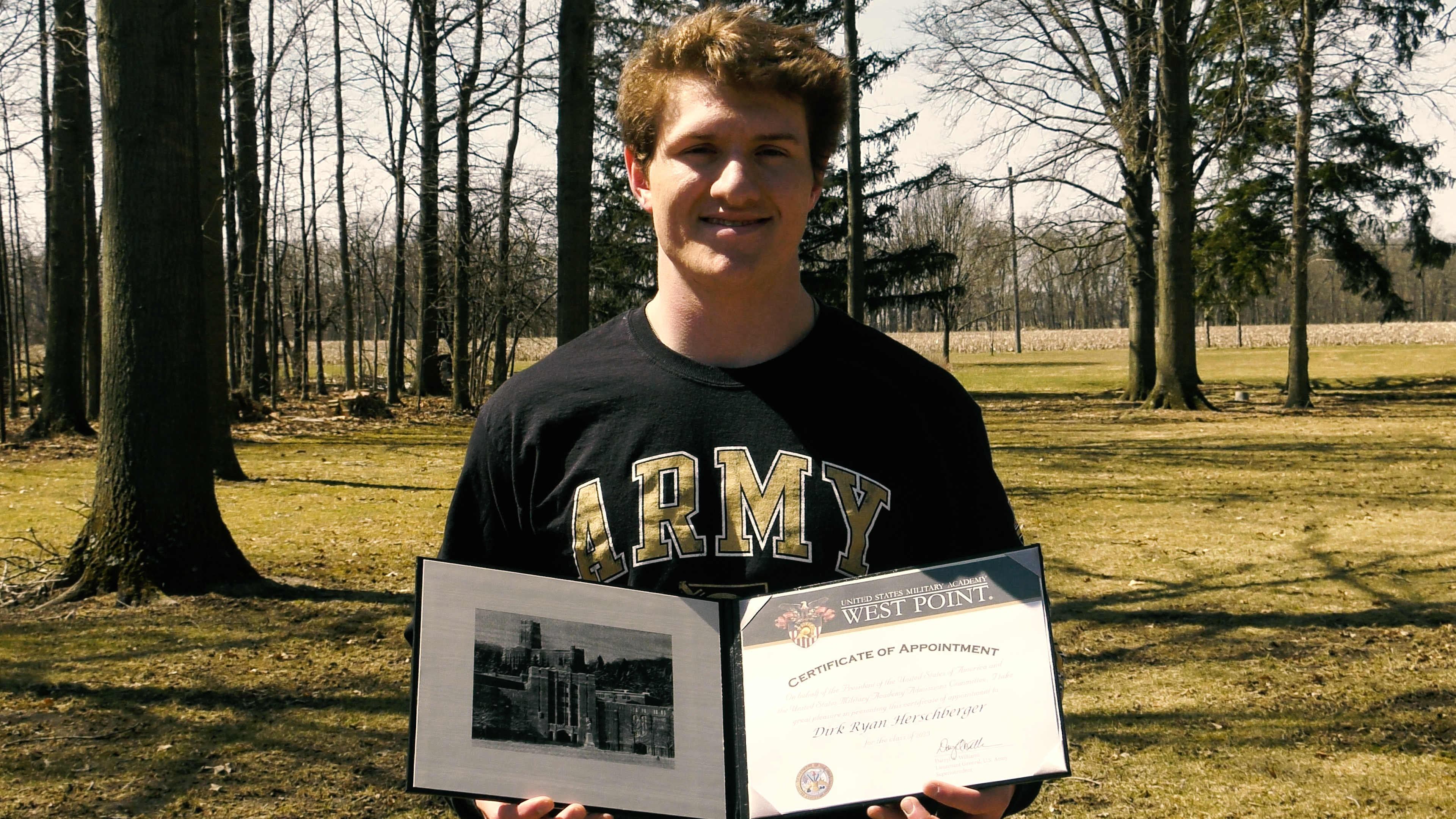 Woodlan's Herschberger accepted to West Point