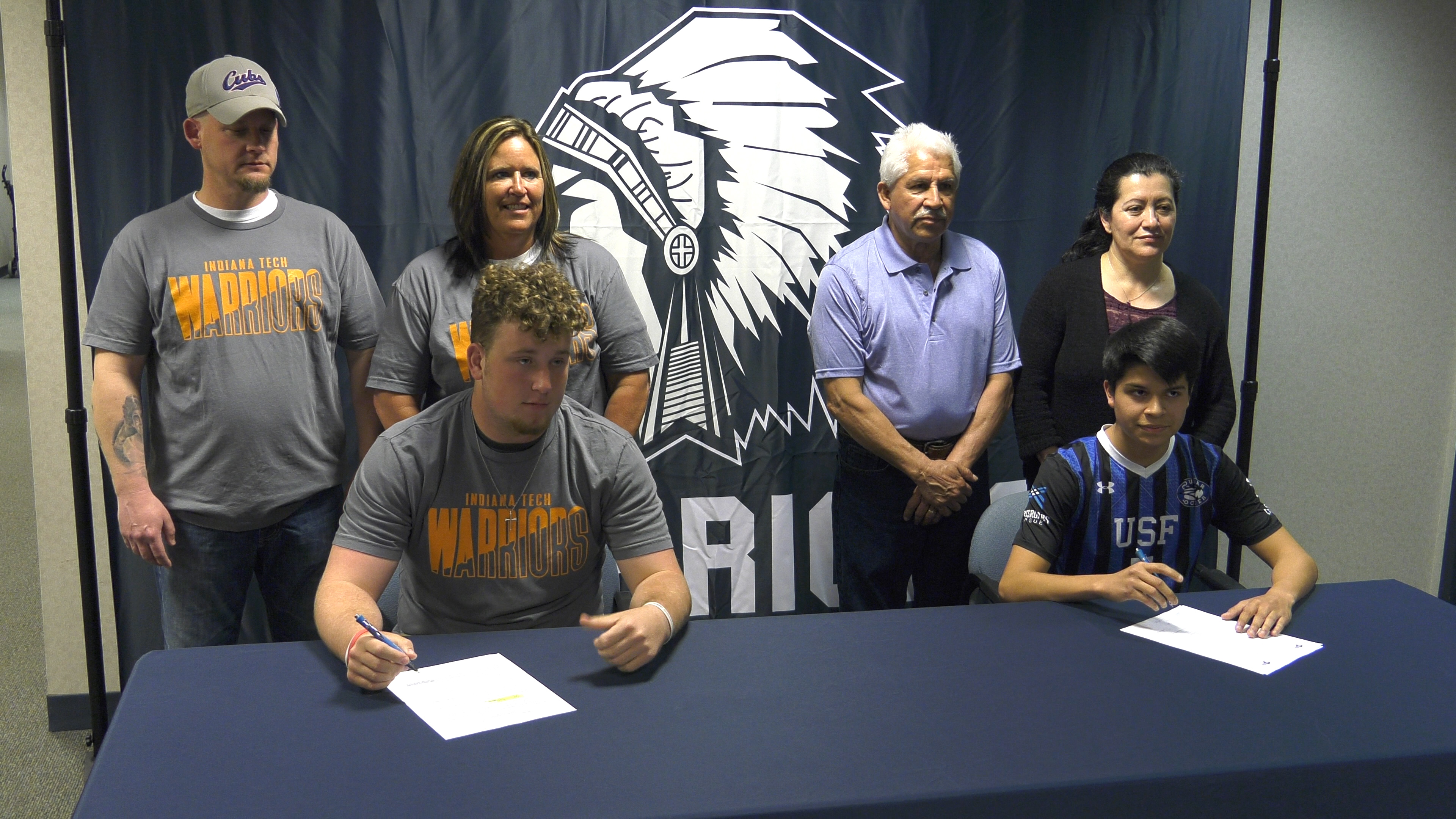 Woodlan seniors Brooks & Vaides sign letters of intent