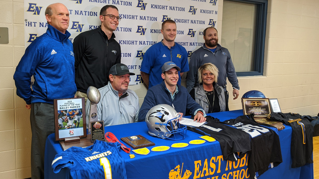 East Noble's Parker heading to Saint Francis for football