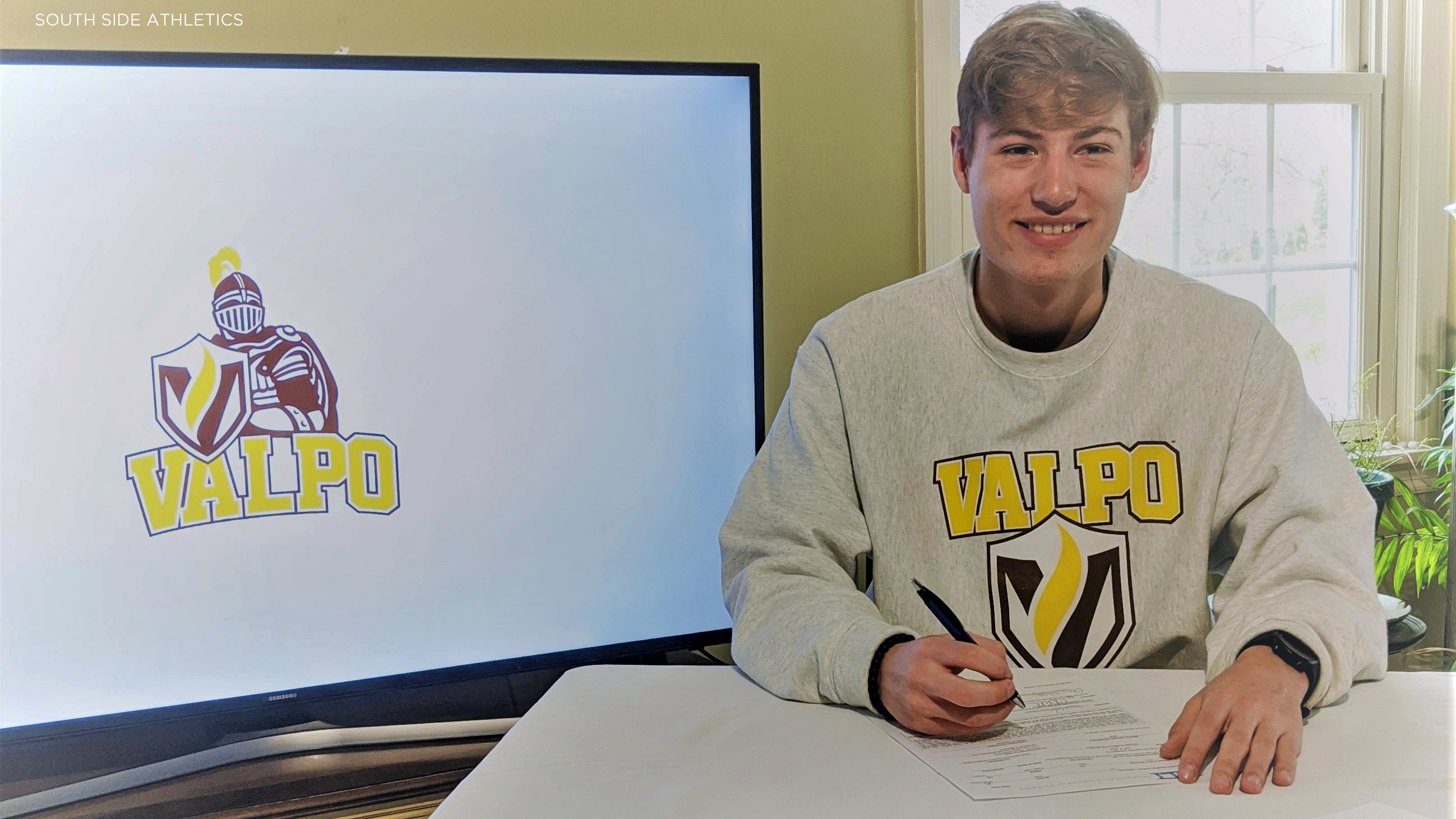 South Side's Evan Walda running at Valpo