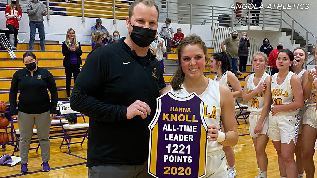 Knoll holds new Angola career scoring record