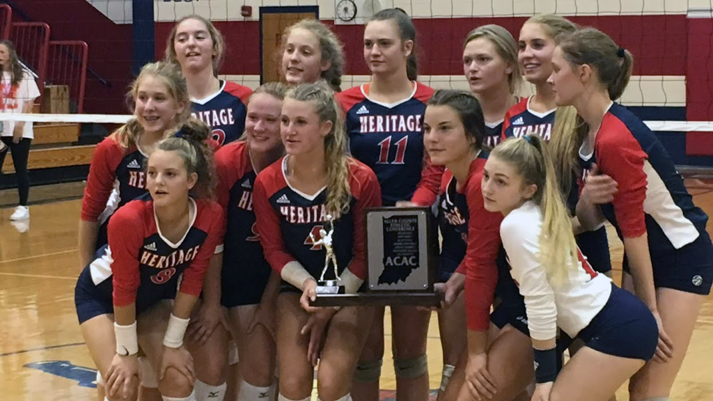 Heritage repeats as ACAC Tourney volleyball champs