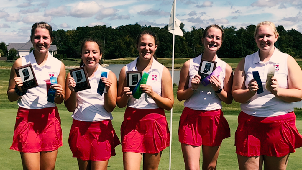 Individual records set as Heritage girls golf wins fourth-straight ACAC regular season title