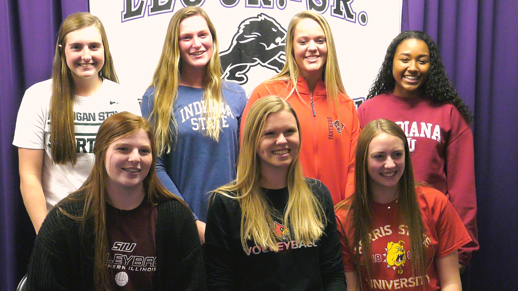 Leo softball, volleyball players cement college athletic plans