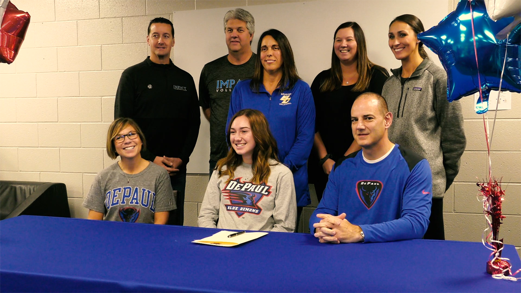 Blackhawk Christian's Nagy signs with DePaul volleyball