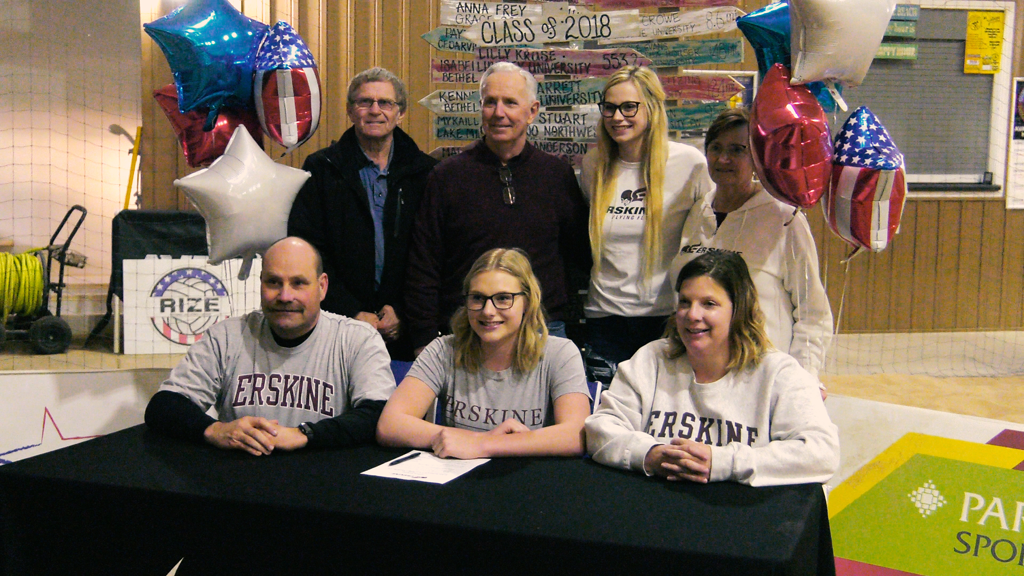 Empowered's Reagan Denning signs with Erskine beach volleyball