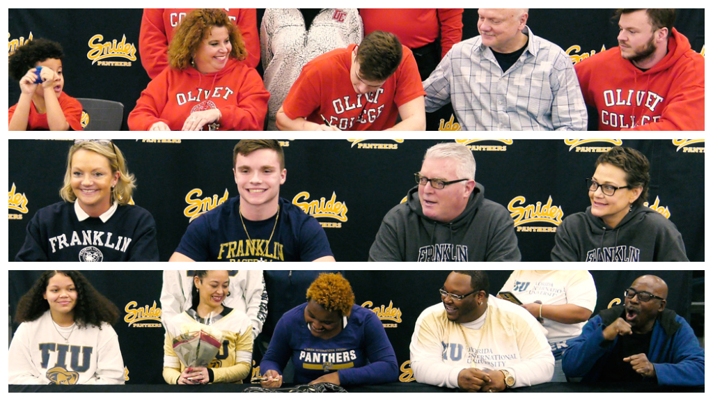3 Snider signees make college plans official